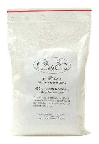 Verlag Ganzheitlich Leben neti® Nasenspülsalz, Nachfüllbeutel, pharmazeutisch rein, 450 g
