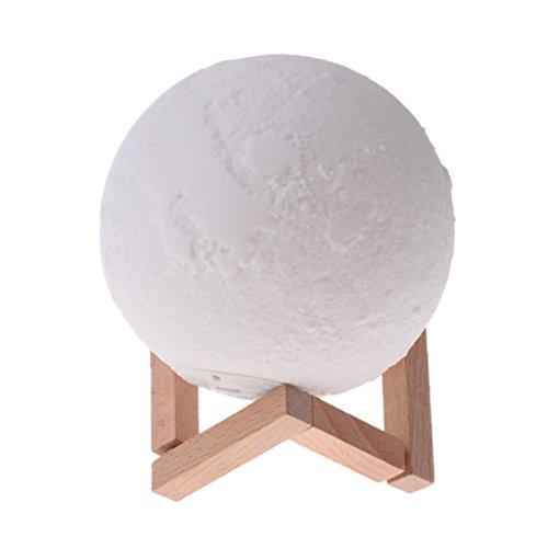 Preisvergleich Produktbild Baoblaze LED Mondlampe 3D Mond Lampe dimmbar Ø 15cm Mondlicht Lampe Nachtlampe Nachtlicht Touch Sensor Tischlampe für Schlafzimmer Cafe Bar Esszimmer