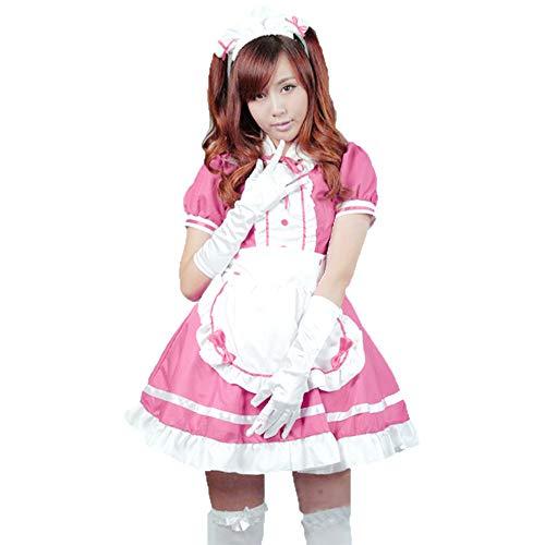 fagginakss Sexy Damen Zimmermädchen Kostüm Zofe French Maid Dienstmädchen Karneval Kleid Nette Frauen Anime Cosplay Französisch Maid Schürze - Hinweis French Maid Kostüm
