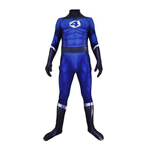 CHXY Fantastic Four Kostüm Kind Erwachsener Dress Cosplay Verkleidung Halloween Mottoparty Strumpfhosen 3D Drucken Onesies Karneval - Fantastic Four Superhelden Kostüm