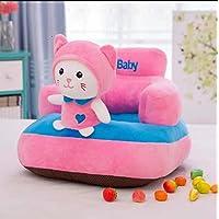 TIB Cat Shape Soft Plush Cushion Baby Sofa Seat/Rocking Chair (Pink, 0 to 4 Years)