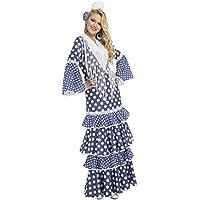 My Other Me - Disfraz de flamenca alvero para mujer, color azul, M-L (Viving Costumes 204378)