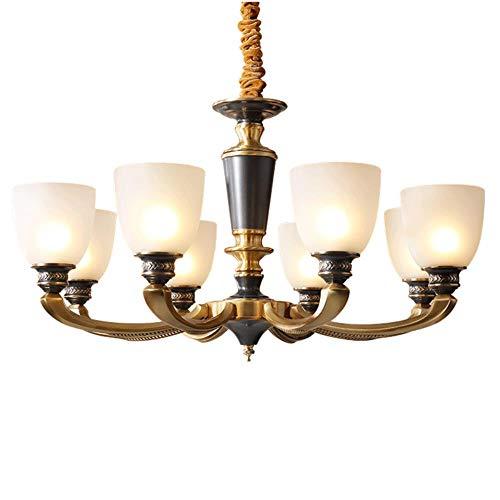 Amerikanischen Stil Luxus echten Messing-Kronleuchter Esszimmer Pendelleuchten traditionellen Foyer Schlafzimmer hängenden Schlafzimmer Leuchte, 5 Lampen -