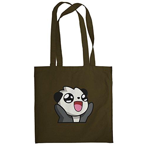 Texlab–Panda Face–sacchetto di stoffa Marrone