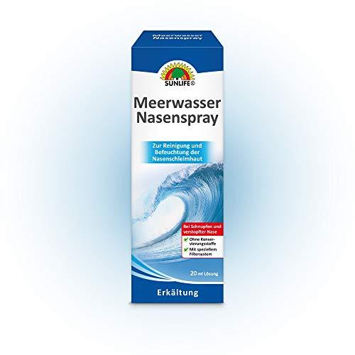 Meerwasser-Nasenspray SUNLIFE® ohne Konservierungsstoffe 2 x 20 ml Spray