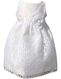 18a09f7de641ec BIMARO Baby Mädchen Taufkleid Nelly weiß Babykleid Festkleid Spitzenkleid  Kleid mit Blumen Spitze Taufe…