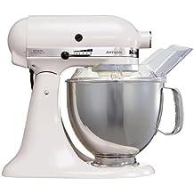 KitchenAid 5KSM150PSEWH Robot Artisan Blanc Batidora amasadora 300 W, 1 Decibeles, Acero Inoxidable