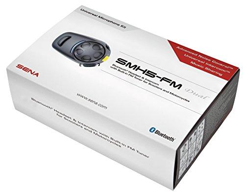 Sena SMH5D-FM-UNIV Bluetooth Headset und Gegensprechanlage mit eingebautem UKW, Doppelpack - 2