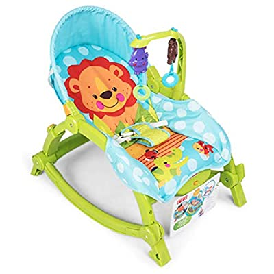 WXX Baby swing, Swings Chair Baby Multi-function Baby Rocking Chair Child Comforting Soothing Vibration Recliner Shake Swing Seat Chair Toy,Green