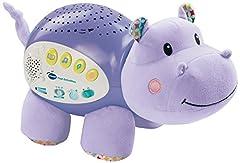 Idea Regalo - VTech Baby - 3480-180922, Popi l'ippopotamo, pupazzo con proiettore di stelline colorate integrato,blu , [lingua spagnola]
