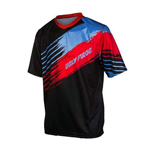 Uglyfrog Element Herren Streifen Design MX Motocross/Downhill Jersey Trikot Shirt Enduro Offroad Motorrad Erwachsene Motorräder Zubehör Kurz/Lang Ärmel