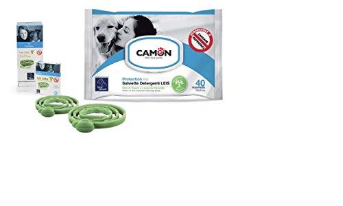 Camon salviette all'olio di neem e lavanda e Collare Leis protezione cane