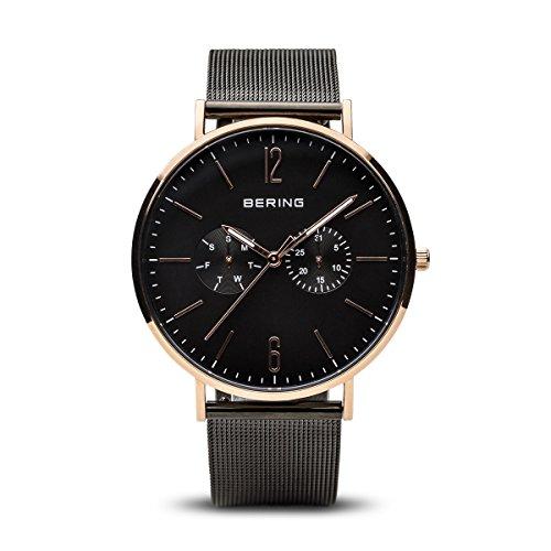 Bering Reloj de Hombre Cuarzo 40mm Correa y Caja de Acero 14240-163
