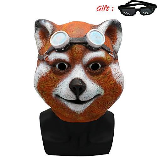 Maske Kostüm Waschbär - Waschbär Kostüm spielt Helm, Maske, Weihnachten Halloween, Perücke Film und Fernsehen Arbeit Make-up Requisiten