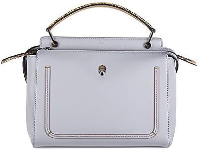 Fendi bolso de mano para compras en piel mujer nuevo dotcom gris