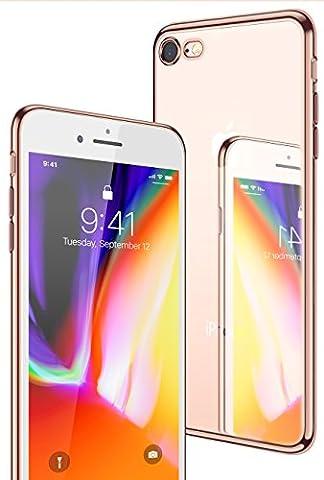 iPhone 7 Hülle, iPhone 8 Hülle, CASEKOO Silikon Dünn Case Transparent Weich Durchsichtig Leicht Cover Ultra Slim TPU Schlank Bumper Handyhülle Soft Kratzfest Schutzhülle für iPhone 7 und iPhone 8(4.7