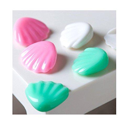 Edge Schreibtisch Shell (Shell Luminous Tischeckenschützer Schreibtisch Eckenschutz Edge-Sicherheitsabdeckung Baby-Silikon-Schutz, Grün 4 Stück (Green))