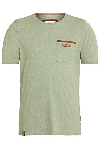 Naketano Male T-Shirt Suppenkasper VI Heritage Green Melange, XXXL