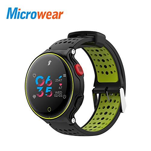 9302sonoaud Bracciale per Orologio Smart Bluetooth con pedometro in Microwear X2 Plus Fitness Verde