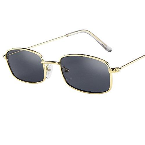 cinnamou Square Shades Small Rechteckige Sonnenbrille - Vintage Brille für Frauen Man - Sportbrille Sonnenbrille Fahrradbrille mit UV400 Schutz Camping