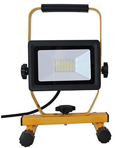 Northpoint LED Baustrahler 20W Arbeitsleuchte Bauscheinwerfer 1600 Lumen 2m Netzkabel inkl. Standgestell und Tragegriff (1 Stück)