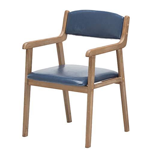 LYHD Nordic Armrest Dining Chair, Sessel mit Holzimitat, Esszimmer/Küche/Büro/Konferenzraum/Balkon/Terrasse -