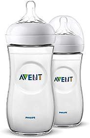 Philips Avent Biberón Natural SCF036/27 - Pack de dos biberones, de 330 ml con tetina con flujo para recién na