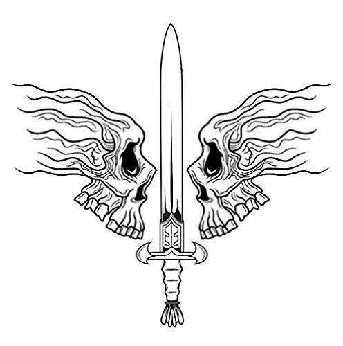 Halloween Schwert Soldat Aufkleber Punk Death Applique