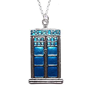 Sour Cherry Doctor Who Tardis Necklace (Metal)