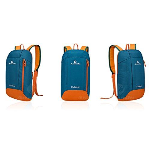annoda Junge Mädchen Reiten Klettern Reise tragbar Casual Nylon klein Rucksack, 1PCS Blue-orange