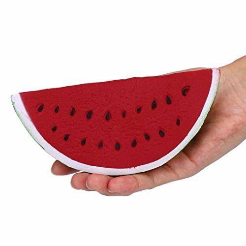 Dekompression Spielzeug FORH Funny Jumbo Langsam Steigende Squishies Spielzeug Squeeze Wassermelone Stress Relief Spielzeug Cute Telefon Riemen Gift (Rot, 18cm*9cm)