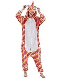Pijama para Animal Adultos Capucha Unicornio Ropa De Dormir Dibujos Animados Invierno Pijama