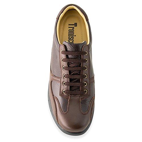 Masaltos Hauteur Des Chaussures Pour Hommes Jusqu'à 7cm. Fabriqué En Cuir Modèle Brown Carrara