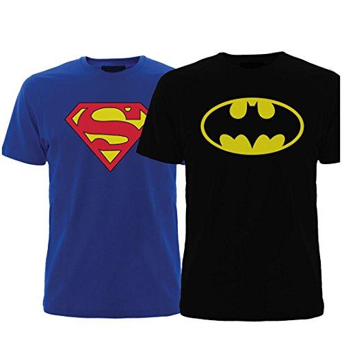 Geefashion-tshirts-Set-of-2-Mens-Combo-SUPERMANBATMAN