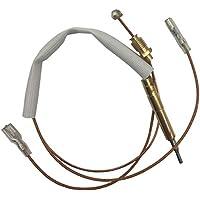 Meter Star - Calentador de Gas para Patio, 350 mm (Tuercas para válvula de Gas de 8 mm, Dos terminales Cuadrados Planos DE 4,8 mm de Ancho para Interruptor basculante)