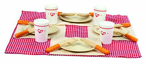 Mittagessen-Set Orange Teller Set