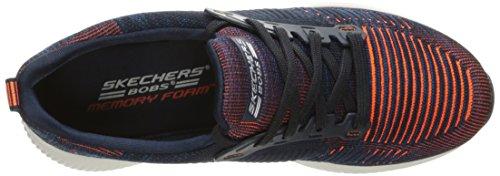 Skechers Damen Bobs Squad-Double Dare Slip On Sneaker Navy - Orange