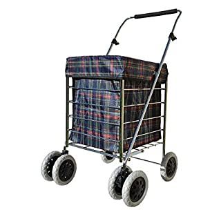 Shopping Cart Trolley on Wheels | Alexander Graham New Exclusive 6 Wheel Model | New Compact Frame | Large Bag | Easy Fold | Front Swivel Wheels Makes it Light and Easy to Use and Great for Mobility