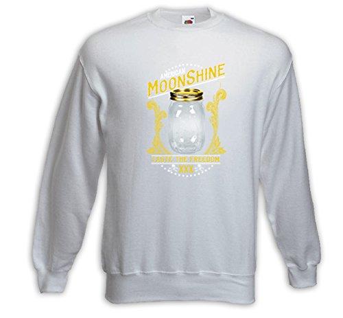Booze Pullover American Moonshine weiß Rockabilly Biker Fun Vintage Weiß