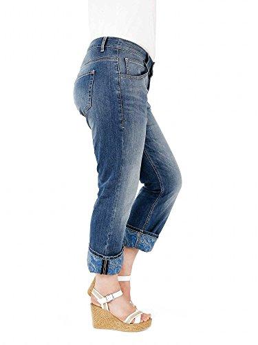sheego Denim Damen Jeans Übergröße Blau