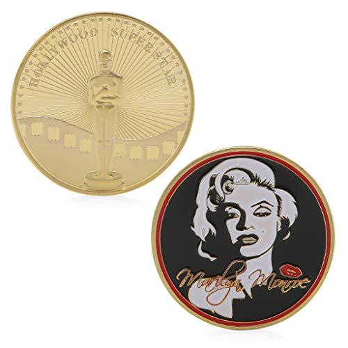 zijianZZJ Gedenkmünze, seltenes Hollywood Super Star Gold plattiert Gedenkmünzen Sammlung Sammlerstück Geschenk