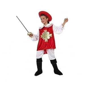 Atosa-19704 Atosa-19704-Disfraz Mosquetero-Infantil 3 a 4 años- NIño- rojo, Color (19704)