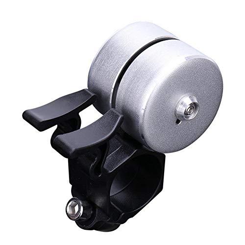 Womdee Fahrradklingel, Mini-Aluminiumlegierung, Doppel-Dokibel, 120 dB, Crisp Kinderfahrradklingel, für Rennrad und Mountainbike, Fahrrad-Zubehör Silber