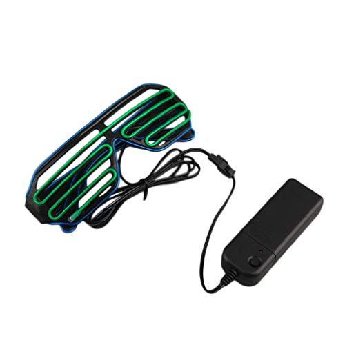 WEIWEITOE Einfach zu tragen reiten led brille leuchten shades blinkende rave für hochzeit indoor outdoor nacht zeigt aktivitäten, blau & grün,