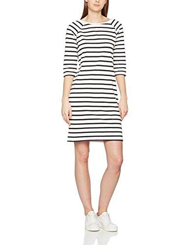SELECTED FEMME Sfnatali 3/4 Dress-Noos, Robe Femme Blanc (Snow White Stripes:DARK SAPPHIRE)