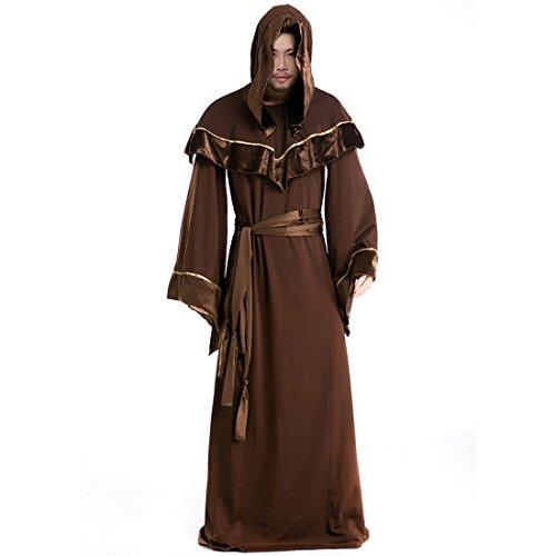 Partiss Herren Gotischen Stil Hallowenn Maennlich Priester Cosplay Kostuem,One Size,As (Priester Kostüm Bilder)