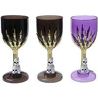 Guoyy 1pcs Copa de Vino de Vaso de Zapata de cráneo de Halloween para el Disfraz