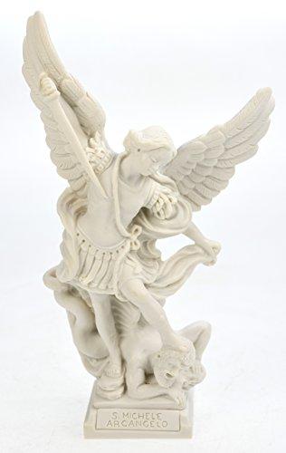 Alabaster, Erzengel Michael mit Schwert 23 cm