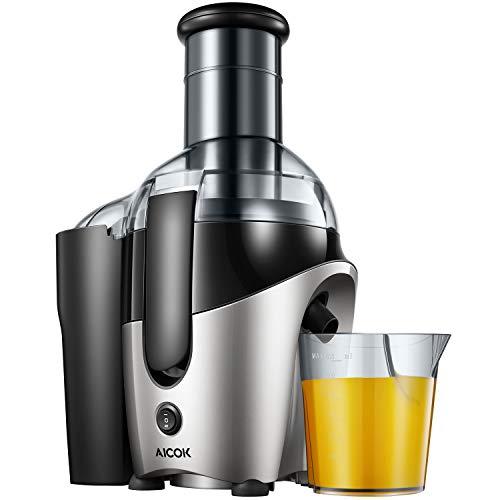Aicok Licuadoras para Verduras y Frutas, Licuadora Exprimidor De Frutas y Verduras, Amplia Apertura de 75mm Sin BPA, pie/Base Antideslizante, 500W