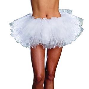 DreamGirl-7007TOTU Petticoat para niña, color blanco, talla única